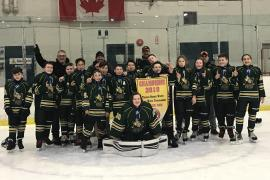 Peewee Rec Labillois winning Bernie White tournament